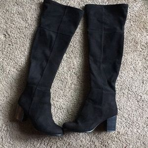 H&M black knee high boots size 8